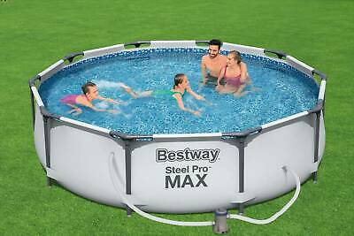 £179.99 • Buy Bestway 10ft Steel Pro Max Above Ground Swimming Pool ✅ Filter Pump✅Fast Postage