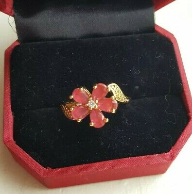 AU14.93 • Buy Unwanted Christmas Present Gift Engagement 18K Gold Plated  Ring 9/Q