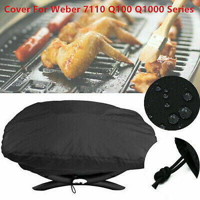 $ CDN13.36 • Buy BBQ Stove Grill Cover UV Resistant Fit For Weber 7110 Q100 Q1000 Accessories