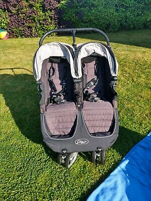 £135 • Buy Baby Jogger City Mini Double Pushchair Includes Carry Cot & Shopping Basket