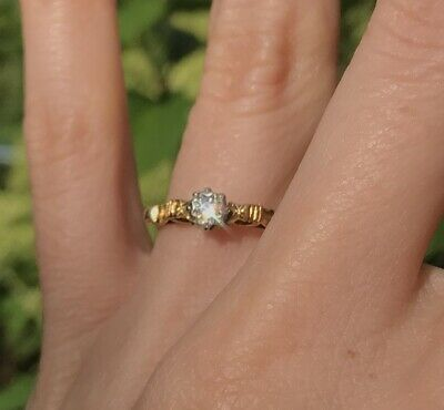 £57.66 • Buy Vintage Art Deco Solid 18ct Yellow Gold Diamond 18 Carat Engagement Ring Size L