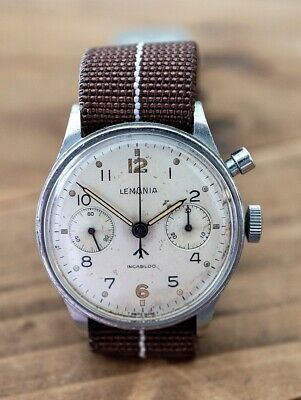 £4250 • Buy Rare Military Lemania Chronograph Watch Issued To The South African Air Force