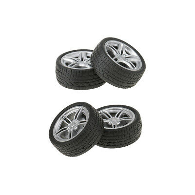 £4.13 • Buy 4 X Tires Vehicle Toys For Model Making DIY Material High Quality Rubber