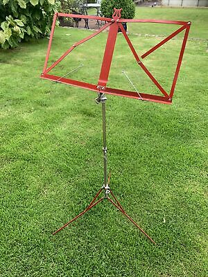 £1.80 • Buy Red Metal Folding Adjustable MUSIC STAND