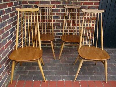 £395 • Buy 4 Blonde Ercol Goldsmith Dining Chairs