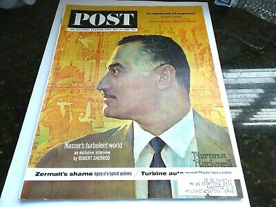 $ CDN14.82 • Buy Saturday Evening Post – 5/25/63 – Egypt's Nasser (by Norman Rockwell)