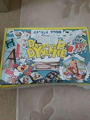 £250 • Buy Commodore Amiga 1200 Desktop Dynamite + Software Pack FULLY WORKING BOX DAMAGED