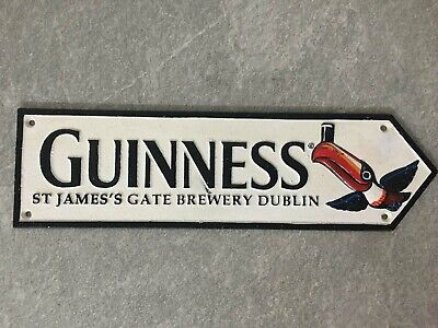 £15.95 • Buy Guinness Brewery Sign Large Cast Iron Repro Wall Plaque Dublin **1 ONLY**