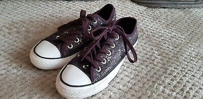 £7.99 • Buy Converse All Stars Purple Sequins Shoes, Size 3