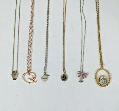$ CDN18.82 • Buy Lot Of 6 Vintage To Modern Pendant Necklaces Jewelry