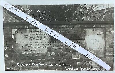 £10 • Buy Old Writing On Wall, Lower Bebington, Wirral. Real Photographic Postcard.