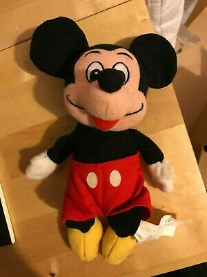 £3.20 • Buy Disney Store 9  Mickey Mouse Bean Bag Beanie Soft Toy Plush No Tags