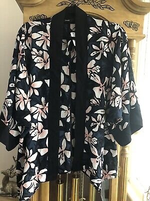 AU3.72 • Buy George Lovely Floral Cover Up Kimono Jacket Size S Bnwt