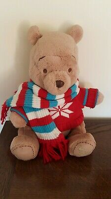 £14.95 • Buy Disney Store 2008 Winter Winnie The Pooh Soft Plush Toy - Good Condition