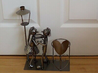 £15 • Buy Quirky Steampunk Art Dancing Couple Plant Holder
