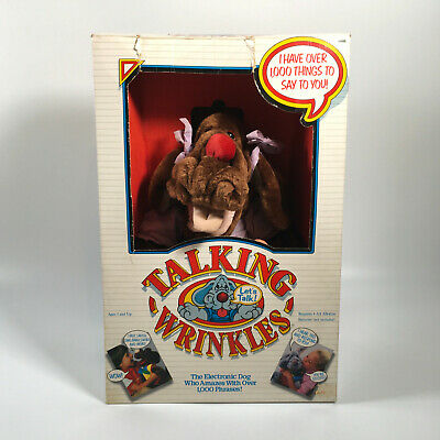 £99.99 • Buy Vintage 1986 Electronic TALKING WRINKLES 16  Dog Hand Puppet - *BOXED & WORKING*