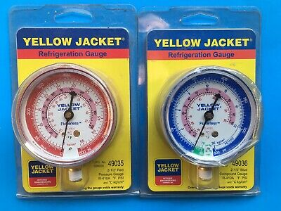 £36.17 • Buy 2x Yelpw Jacket 410A Refrigeration Replacement Steel Red And Blue Gauges Hvac