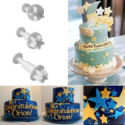 £2.26 • Buy Star Fondant Decorating Biscuit Plunger T Cutter Mold Cake Tools DIY Moulds