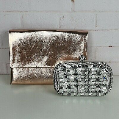 AU29.95 • Buy 2 X Pair Betts And Forever New Box Clutch And Fold Envelope Clutch Bag Handbag