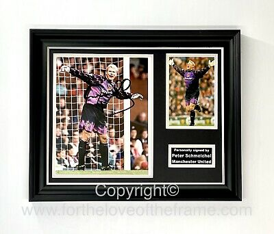 £225 • Buy Peter Schmeichel Hand Signed Manchester United Football Soccer Display With COA