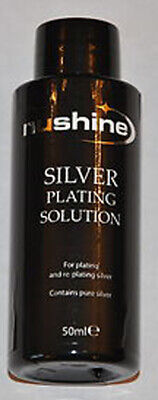 £9.99 • Buy Silver Plating Solution 50ml - Restore Your Items With Real Silver