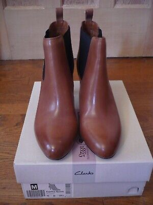 £24.99 • Buy Clarks Tan Leather Pull On Ankle Boots. Size 6. New With Box.