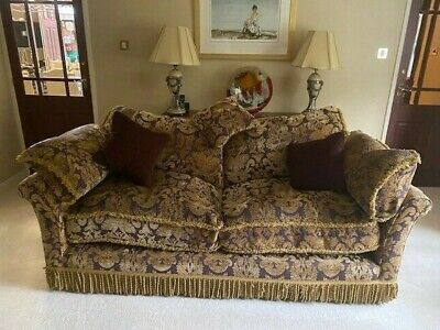 £400 • Buy Parker And Farr 3 Piece Suite, 3 Seater Sofa, 2 Armchairs, 1 Footstool, Used