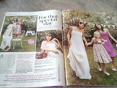 £2 • Buy Prima Sewing Pattern 03/06 Bridal Gown & Cape,bridesmaid & Flower Girl Dresses