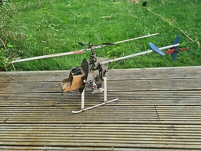 £10 • Buy ** Rc Nitro / Petrol Helicopter  MFA 500 SPORT Vintage? Spare Or Repairs**