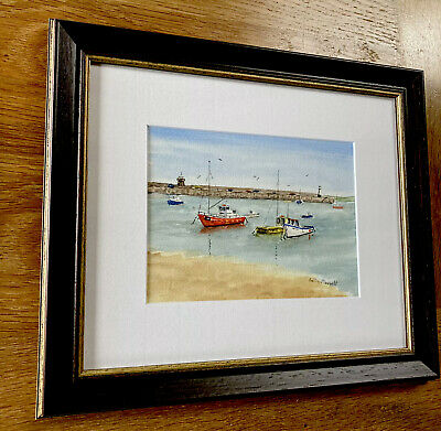 £40 • Buy Betty Morrell St Ives Original Painting Watercolour Beach Boats Harbour