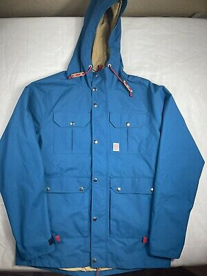 $85 • Buy TOPO Designs Insulated Parka Utility Cargo Jacket Mens Size Large  Snowboarding