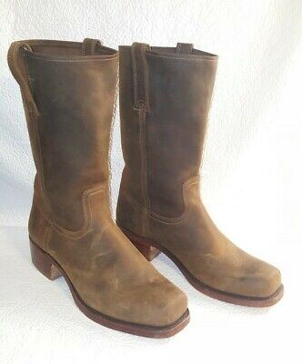 $94.99 • Buy FRYE Mens Cavalry Brown Oiled Leather Casual Western Boots Mens 12 M