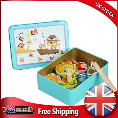 £7.76 • Buy Wooden Magnetic Fish Toys Kids Educational Fishing Magnet Puzzle Game Gifts