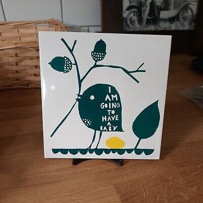 £10 • Buy ROB RYAN I Am Going To Have A Baby POTTERY TILE RRP £26