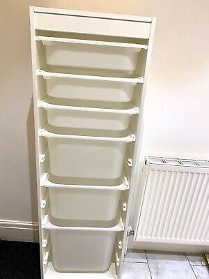£40 • Buy NEARLY NEW IKEA WHITE  Trofast Storage Unit Space For 10 Boxes