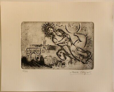 £72.64 • Buy Etching  MARC CHAGALL  Signed By Hand,gravure,radierung,aguafuerte