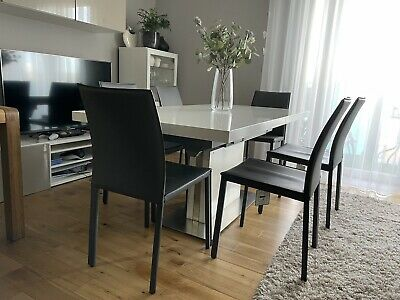 £320 • Buy BoConcept Dinning Table With 6x Grey Faux Leather Chair