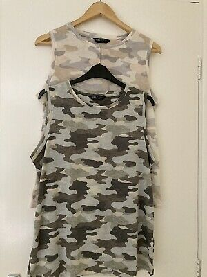£4.99 • Buy Marks And Spencer Camo Vests X2 Size 12