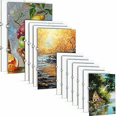 £30.64 • Buy 12 Pieces Big Clip Frame Poster Frame Frameless Photo Frame For Home And Office