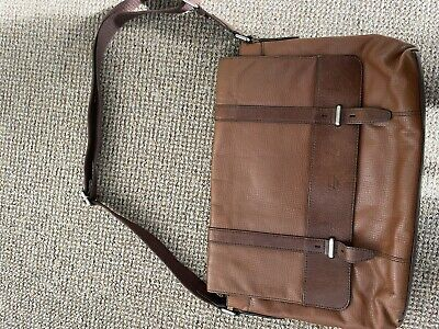 £9.50 • Buy Fossil Leather Laptop Bag - Brown / Tan - Satchell Style