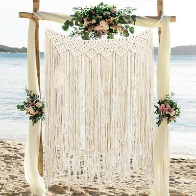 $22.99 • Buy Macrame Tapestry Hand Woven Bohemian Cotton Tapestry Curtains Wedding Background