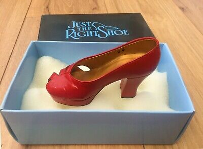 £12.99 • Buy Just The Right Shoe RAVISHING RED #25001 Raine Willitts Designs 1998 Boxed NEW