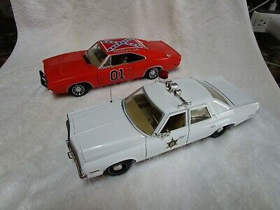£125.87 • Buy Dukes Of Hazzard Set General Lee 1969 Dodge Charger & Hazzard County Sheriff Car