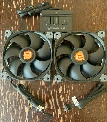 £7.50 • Buy Two Thermaltake 120mm Fans, For CPU Cooler Reservoir Etc, Plus Fan Controller