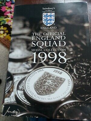 £4.49 • Buy The Official England Squad World Cup Medal Coins Collection 1998 - Sainsburys