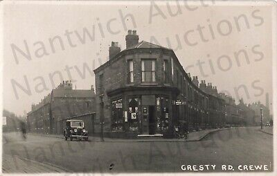 £19.95 • Buy Cheshire Gresty Road Crewe Shop Opposite The Alex Superb Real Photo