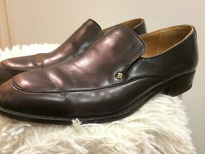 £10 • Buy Mens BALLY PAGANICO Brown Leather Slip On Shoes Size UK 7.5 EUR 41.5