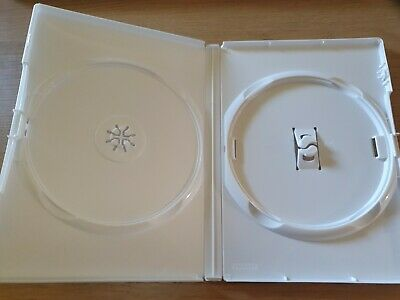 £2.50 • Buy White Replacement Empty Amaray DVD Cover Holds 2 Disc CD Storage Case 14mm Spine