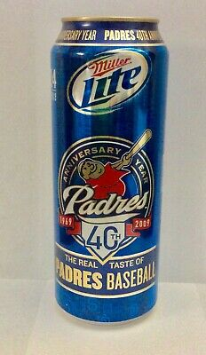 $11 • Buy Miller Lite San Diego Padres  24 Oz Beer Can  40th Anniversary   *empty Can*