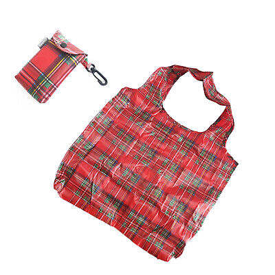 £3.49 • Buy Royal Stewart Tartan Design Eco Fold Up Shopping Bag For Life In Pouch With Clip